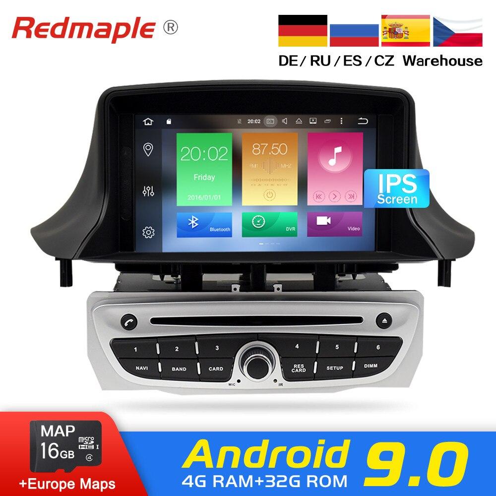 Ips экран Android 9,0 автомобильный Радио dvd плеер Мультимедиа Стерео для Renault Megane 3 Fluence 2009 2015 Авто аудио gps навигация