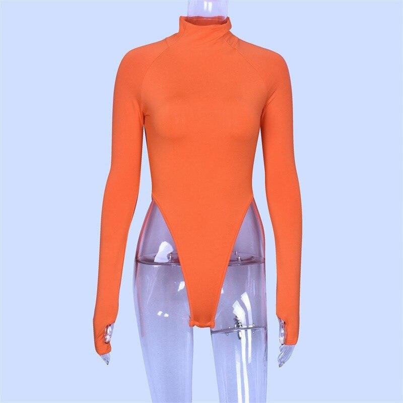 high neck long sleeve bodysuit women18
