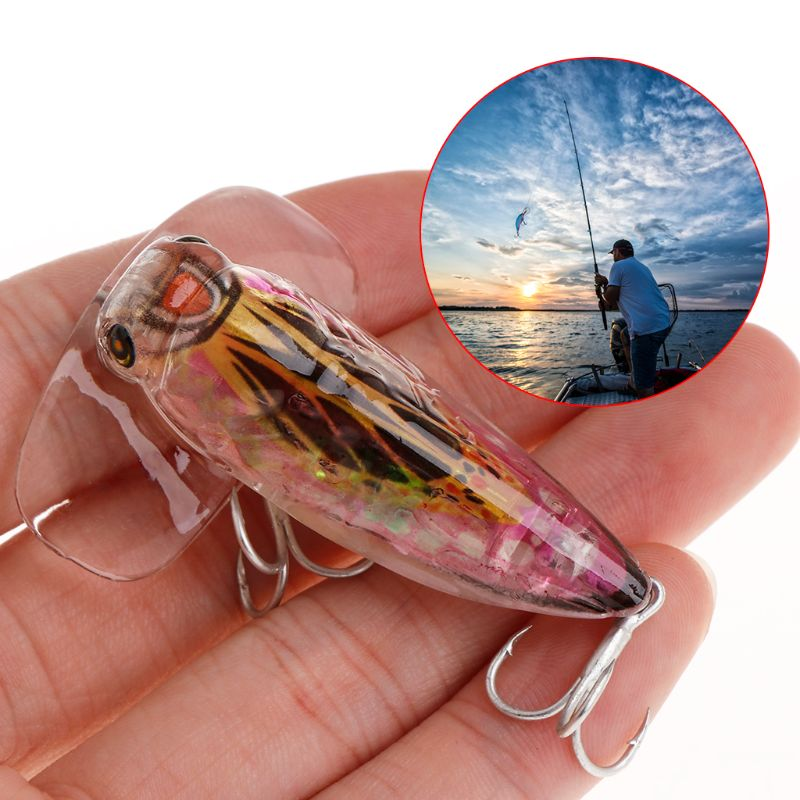 1 Pc Fishing Bait Hard Lure Cicada Artificial Simulation 5 5cm8 5g Plastic Lifelike Popper Attract Topwater Catfish Accessories in Fishing Lures from Sports Entertainment