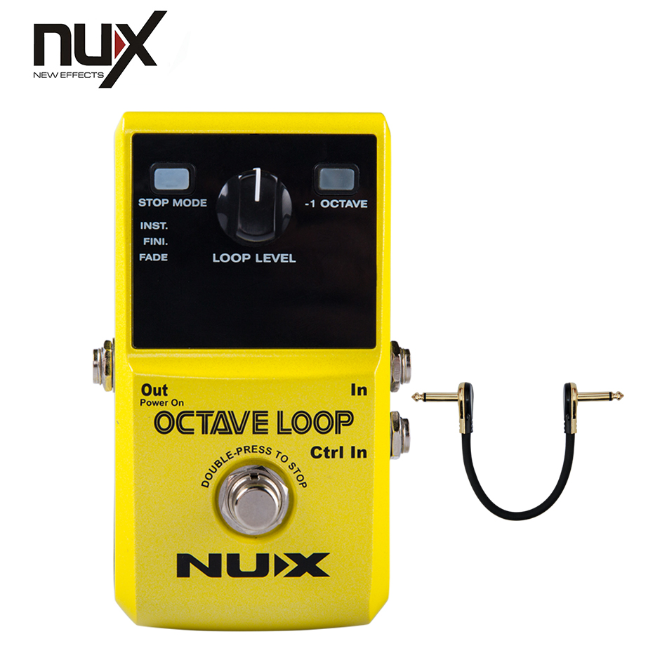 NUX Octave Loop Looper Pedal with -1 Octave Effect Create a bass line with your guitar nux octave loop looper pedal 1 octave effect infinite layers with bass line true bypass 3 modes guitar single block effector