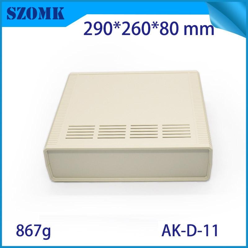 1 piece, 290*260*80mm szomk high quality desktop enclosure housing electronics plastic box enclosure cabinet for device box