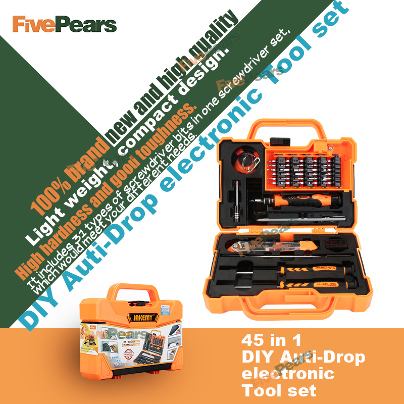 Buy JM-8139 45 in 1 Professional Electronic Precision Screwdriver Set Hand Tool Box Set Opening Tools for iPhone PC Repair Tools Kit