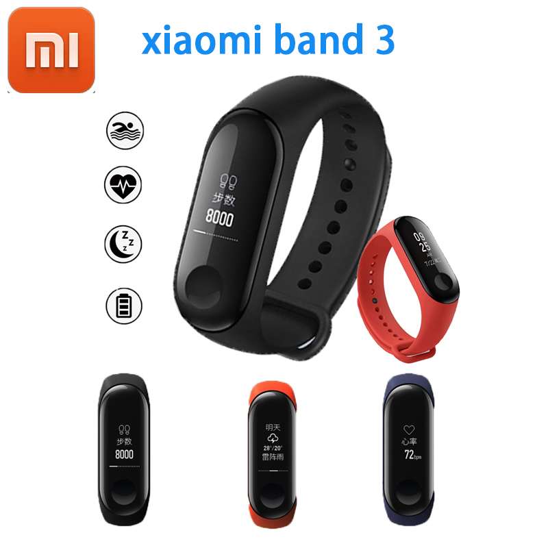 Original Xiaomi mi banda 3 Band3 inteligente pulsera 0,78