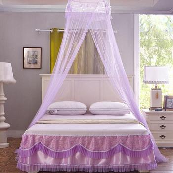 Gut ANCRV Hing Dome Crown Form Baldachin Moskitonetz Für Bett Sommer Polyester  Mesh Stoff Extra Lange Größe Schlafzimmer Verwenden Licht Gewicht