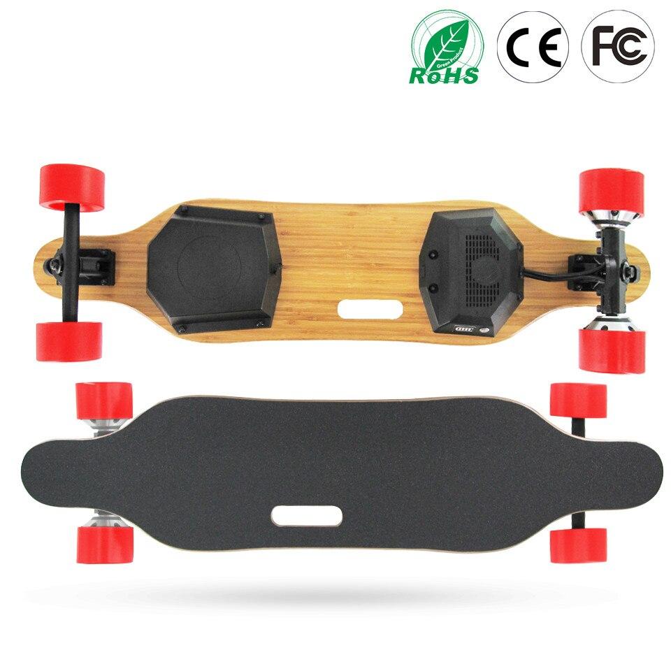 83mm moyeu moteur Electrico Longboard longue planche à roulettes 24 V 36 V batterie au Lithium Samsung batterie PU matériel roue
