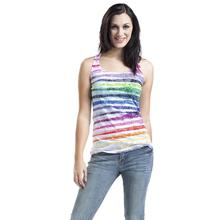 2017 New Arrive Summer Women Tops Casual Sleeveless Vest Fashion Ladies Colorful Striped Slim Bodycon Vests Top