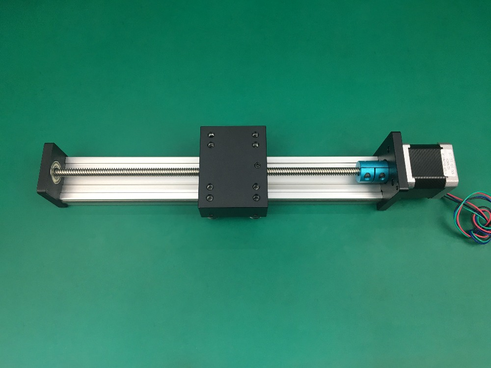 High Precision CNC STK T8*8 Ballscrew Sliding Table effective stroke 300mm+1pc nema 23 stepper motor XYZ axis Linear motion cnc stk 8 8 ballscrew screw slide module effective stroke 150mm guide rail xyz axis linear motion 1pc nema 23 stepper motor
