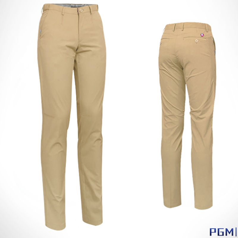 PGM Mens Vintage Solid Golf Pants, Golf Tour Performance Dri-Fit, Solid Golf Style Pants Fit four colors available