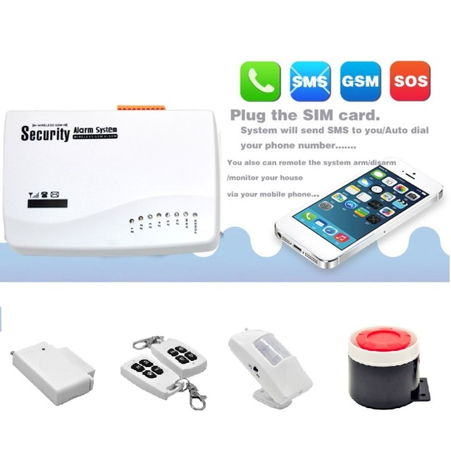 Special Price Wireless GSM Home Security Burglar Alarm System Auto Dialler SMS SIM Call 433MHz Frequency Support Remote Control Promotion