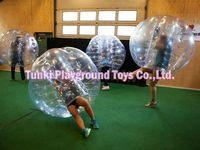 Exciting body game 0.8mm TPU/PVC soccer bubble, bubble football, bumper ball