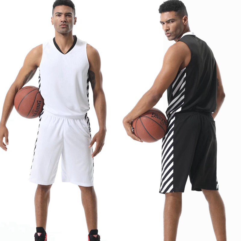 Men Cheap Throwback Basketball Jerseys Youth Blank striped Basketball Uniforms Breathabl ...