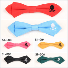 цены 2019 New Brooch Buckle Bow Tie Children BowTie Lovely Skull Head Show  Embroidery Bow Tie