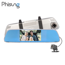 Phisung V25 Dual font b Camera b font lens Review Mirror Car DVRS FHD 1080P G