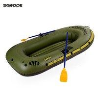 1/2/3 4 Inflatable Boat Fishing Raft Boat PVC kayak Rowing Boat Paddle Oar Pump Seat Cushion Bag Rubber Protable Boat