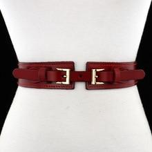Клюшки широкая талия Ремни для Для женщин Мода Широкий Натуральная кожа ремень женские эластичные ремни для женщин платье 1602