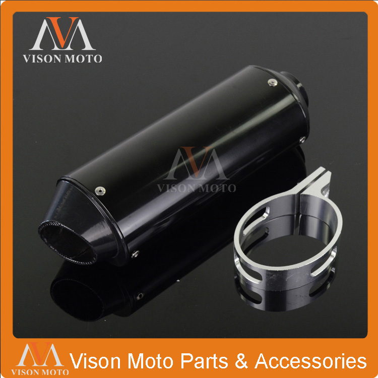 CNC 38MM Alloy Exhaust Muffler With Clamp For XR50 CRF50 KLX TTR SSR Koyo bosuer 50 110 125 140 150 160 cc Chinese Dirt Pit Bike cnc foot brake pedal tip lever step plate tip replacement for crf50 xr50 ssr sdg tao tao dirt pit bike motorcycle free shipping