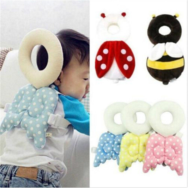 2018 New Baby Learn To Walk Head Protection Pad Wing Anti Wrestling Pad Toddler Headrest Pillow Baby Bedding