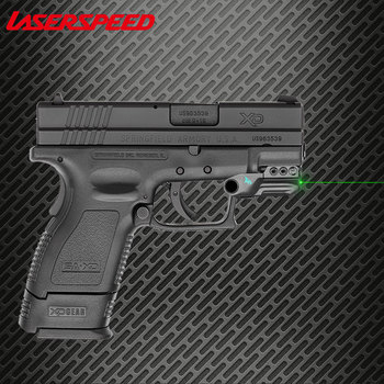 Laserspeed Micro Railed Green Laser Sight For Glock Low Profile Streamlined Subcompact Digital Sensor On/Off Switch Gun Laser