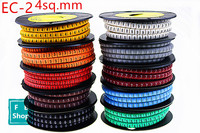 10rolls/lot EC 2 4sq.mm Coloured Cable Markers Letter 0 to 9 Cable Wire Markers