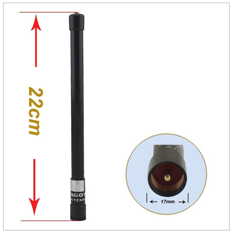 bilder für NAGOYA NL-350 Schwarz 144/430 MHz VHF/UHF Dual Band Glasfaser Luft Mobile Antenne Fiberglas für Auto Mobilfunk-transceiver