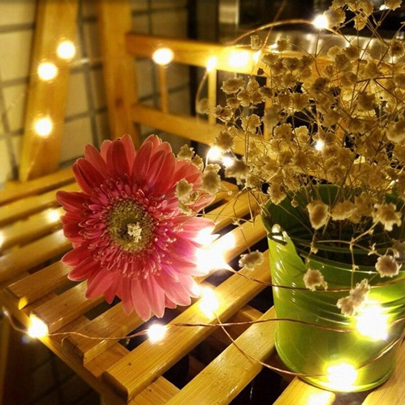 20M / 66Ft 200 LEDs jardin de fil de cuivre LED solaire guirlande - Éclairage festif - Photo 4