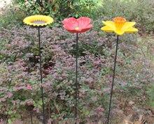 2 in 1 Iron Flower Garden Decor Europen Style Outdoor Bird Feeder in Garden Pot Home Decoration недорого