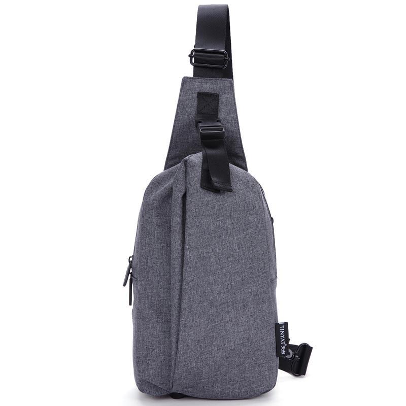 waterproof Nylon nylon cross body shoulder bag solid medical pouch embossing sling chest bag mens plastic shoulder bag