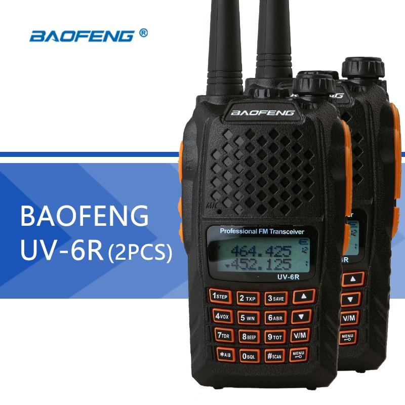 2PCS Baofeng UV 6R Walkie Talkie UHF VHF Dual Band UV 6R CB Radio UV 5R