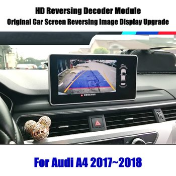 Car Rear View Rearview Backup Reversing Parking Camera For Audi A4 B8 B9 2010-2020 Full HD CCD Decoder Accessories Alarm Systems car rear view rearview backup camera for audi a1 8x 2010 2018 reverse reversing parking camera full hd ccd decoder accesories