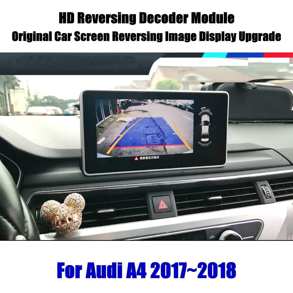Liandlee For Audi A4 2017~2018 Reverse Decoder Module Rear Parking Camera Image Car Screen Upgrade Display Update