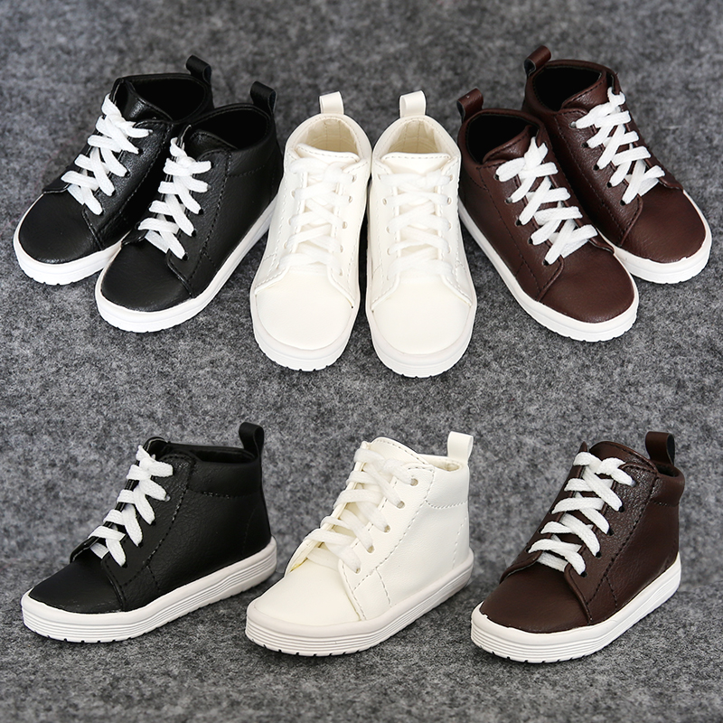1Pair New Doll Accessories Balck Brown White BJD Shoes Doll 1/4 1/3 1pair 1 3 1 4 bjd doll shoes black casual shoes for bjd doll