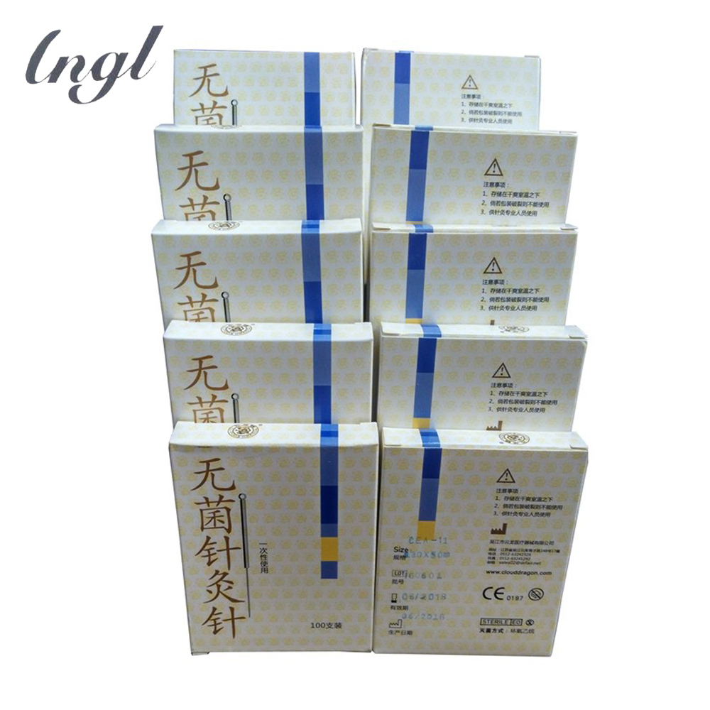 10 Boxes Acupuncture Needles Single Use disposable ear Acupuncture needles beauty massage disposable sterile acupuncture needle steel acupuncture needles square if order 10 box best