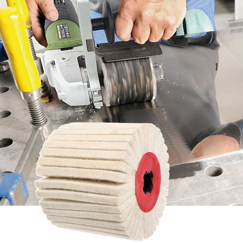 Deburring Abrasive Wool Round Brush Polishing Grinding Buffing Striping Wheel -M18
