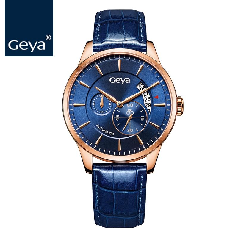 Geya Chinês Associação de Ciclismo Designado Cronometrista Relógio Mecânico Automático Homens Relógio Estilo Esporte Olímpico de Papel 2017