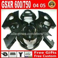 ABS пластик для глянцевый черный Suzuki 2004 2005 GSXR 600 750 комплект обтекателей K4 GSXR600 SXG GSX 04 05 R750 мотоцикл 193