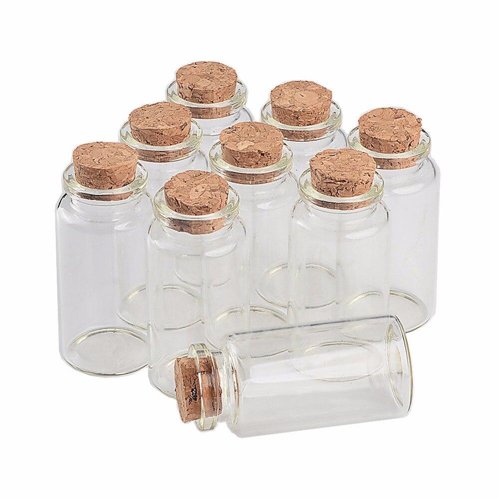 5Pcs 5-70ML Empty Small Mini Cork Stopper Glass Bottle Vials Jars Container