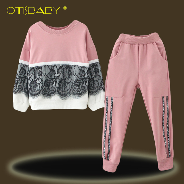 4f334399b824f US $12.88 20% OFF|Winter Children Girls Tracksuits Lace Costume Casual Kids  Sport Suits Toddler Girls Long Sleeve Clothing Set O Neck Pullovers-in ...
