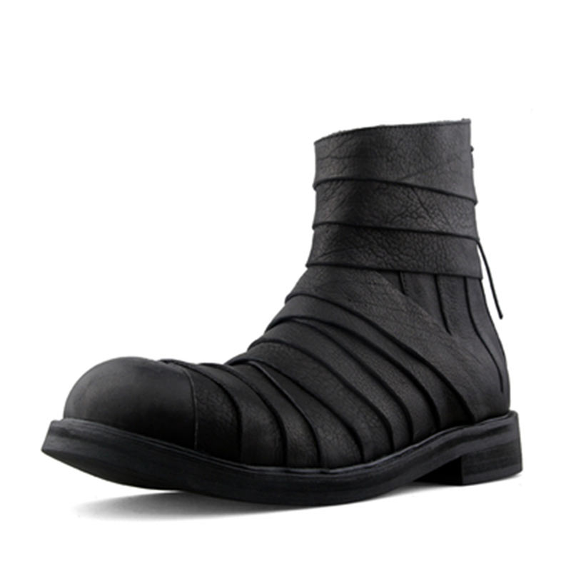2019 New Men Boots  Rubber Sole Zipper Fashion Shoes Personality MenS Black Martin  Boots Summer 2019 New Men Boots  Rubber Sole Zipper Fashion Shoes Personality MenS Black Martin  Boots Summer