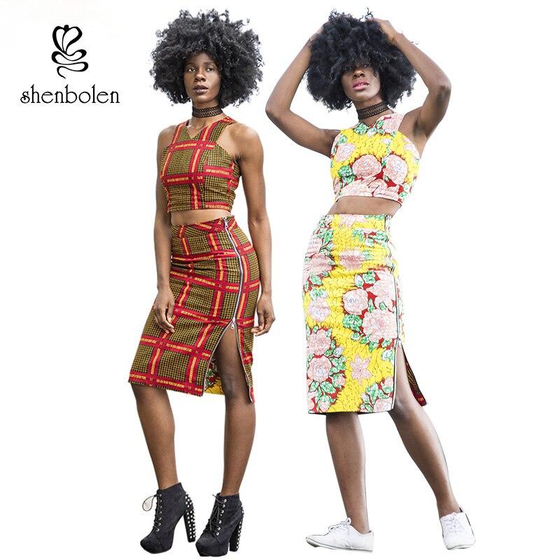 Shenbolen Afrikaanse jurk voor vrouwen Ankara stijl kleding mode - Traditionele kleding