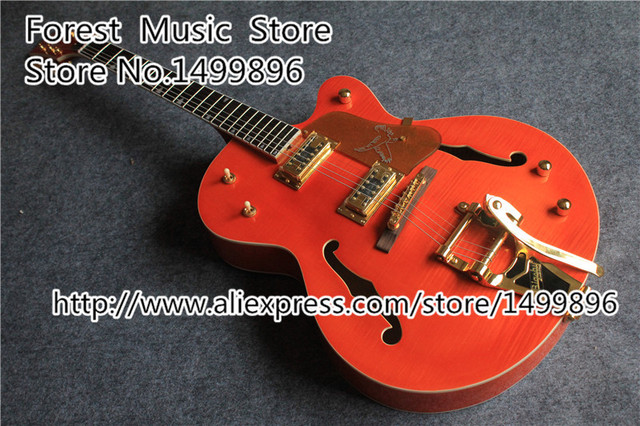 Cheap Hot Selling Nashville Jazz Guitars Electric With Gold Hardware From China Factory In Stock