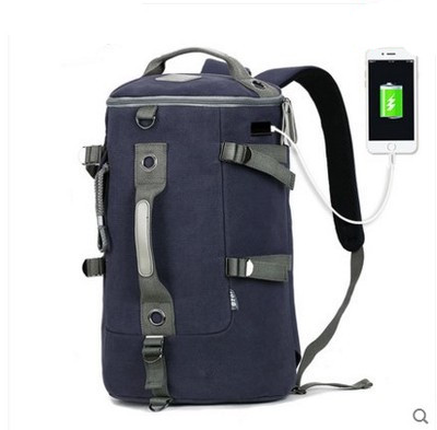 High Capacity Travel Bag New Arrival Cylinder package Multifunction Rusksack Male Fashion Backpack Drop Shipping Charging bag high capacity travel backpack bag for teenagers women waterproof backpack folding chair men bag multifunction rusksack male bag