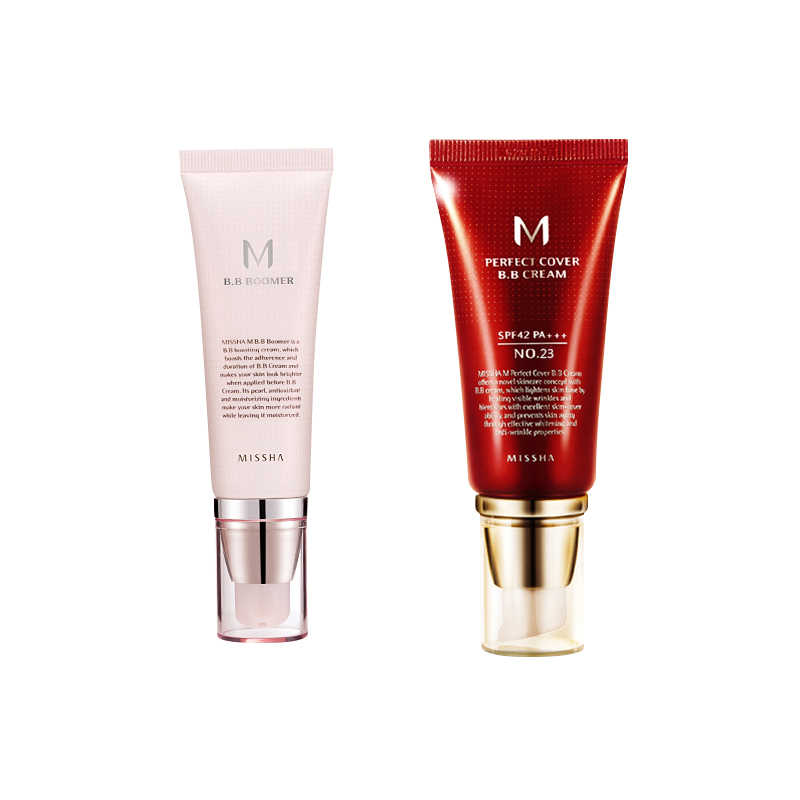Best Korea Cosmetics MISSHA M Perfect Cover BB Cream 50ml SPF42 PA+++ (NO.23 Natural Beige ) Foundation Makeup & BB Boomer 40ml корректоры missha the style perfect concealer light beige