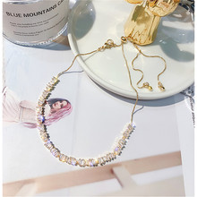 FYUAN Zircon Choker Necklaces for Women Bijoux Exquisite Clavicular Chain Crystal Necklaces Statement Jewelry Party Gifts choker necklaces women statement necklaces