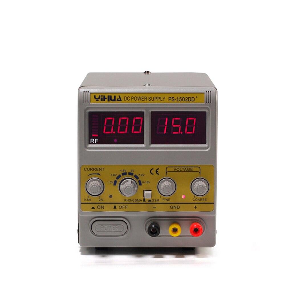 YIHUA 1502DD + alimentation de téléphone portable réglable alimentation en courant continu régulée affichage numérique régulé Maintenance de puissance Rf