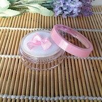 5g sypki case z przesiewacza/pokrywa Świetlik różowy proszek, pusty sypki kompaktowa pojemnik kosmetyczny (butterfly puff)