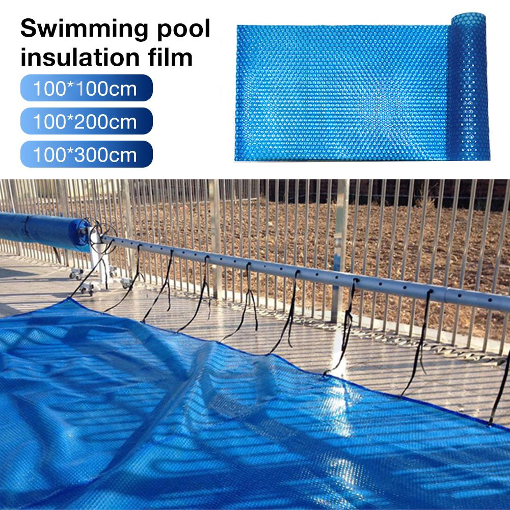 Swimming Pool Insulation Cover Dustproof Cover Blue Solar Swimming Pool Cover Easy Set Swimming Pool Accessories PE Film