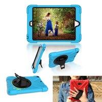 Voor apple ipad mini 123 360 graden rotating stand case Cover Met Auto Sleep/Wake Functie met draagriem Alabasta