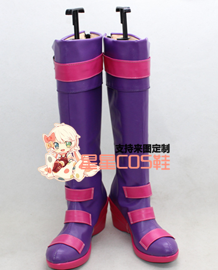 LOL Miss Unfortune Girls Purple Halloween Christmas Party Cosplay Shoes Boots X002