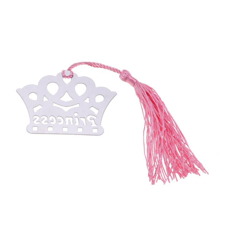 Metal Princess Crown Bookmark Page Book Maker Marcapaginas Segnalibro Wedding Birthday Gift Box Office School Stationery Supply