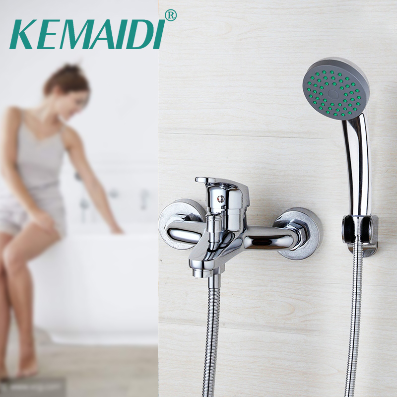 KEMAIDI Bathtub Faucet Shower Sets Wall Mounted Chrome Polish Shower Handheld Driver Bathroom Sink Brass Mixer Tap SetsKEMAIDI Bathtub Faucet Shower Sets Wall Mounted Chrome Polish Shower Handheld Driver Bathroom Sink Brass Mixer Tap Sets